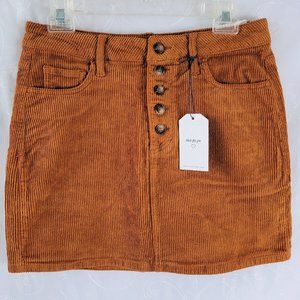 Cello M Corduroy Mini Skirt Burnt Orange/Brown